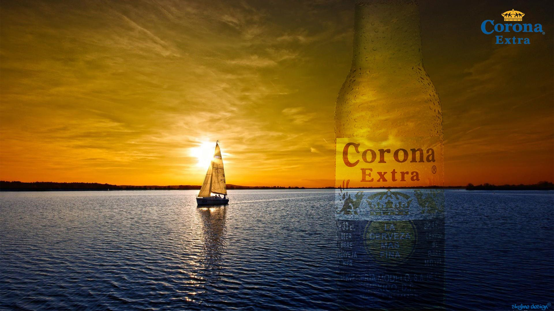 Corona Beach Wallpaper: Corona Extra Wallpaper