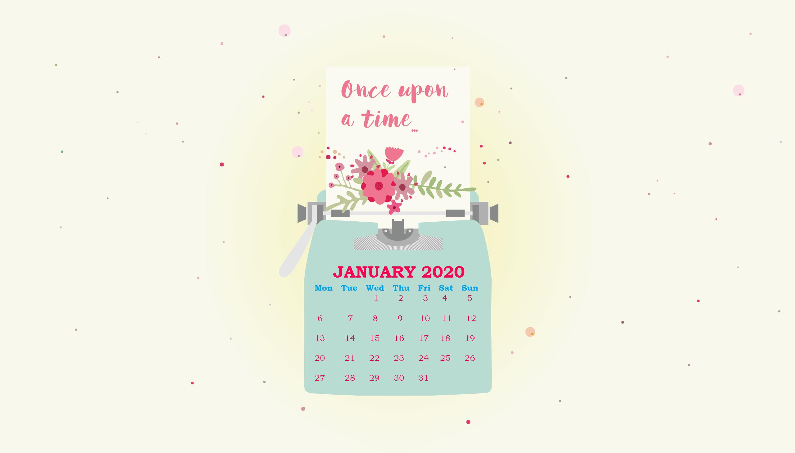 January 2020 Wallpaper Calendar Calendar 2019 2560x1459