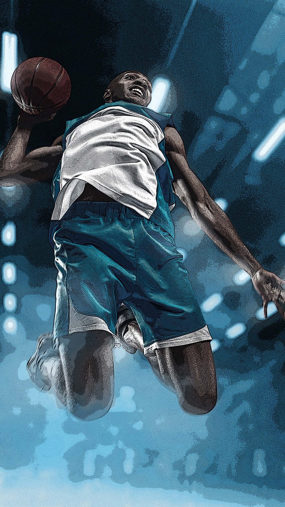 Basketball Sports Artwork 4k Ultra Hd Mobile Wallpaper 950x1689