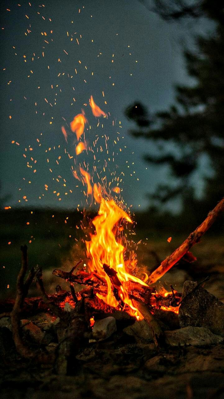 wallpaper background fire campinglife star 720x1280