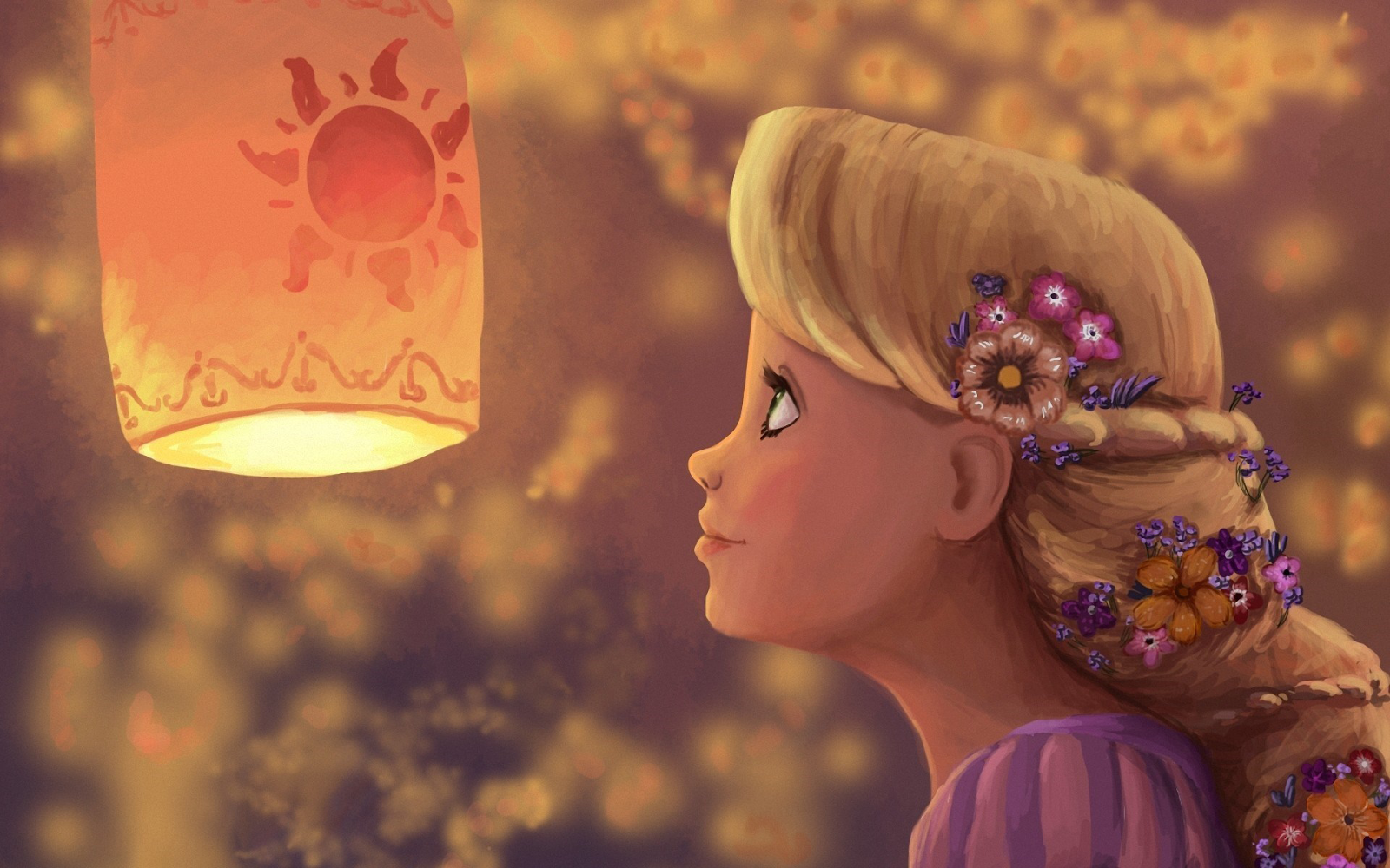 Tangleds Rapunzel Disney cartoon illustration HD Wallpaper HD 1600x1000