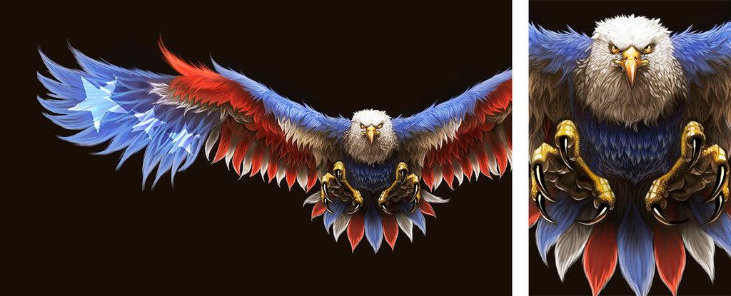 Patriotic Eagle Painting by BlackHawk45LC 1024x415