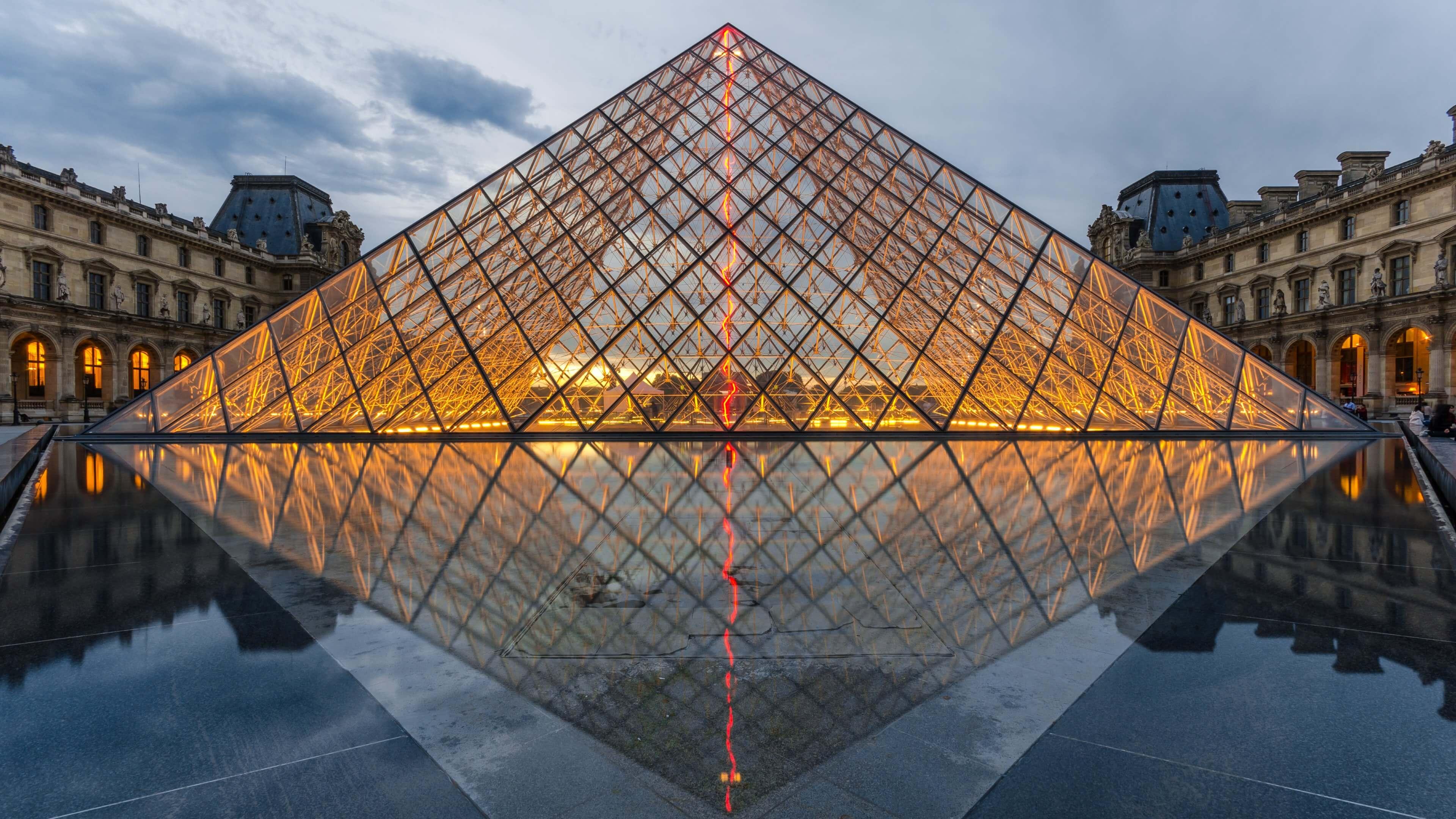 The Louvre HD wallpaper for 4K 3840 x 2160   HDwallpapersnet 3840x2160