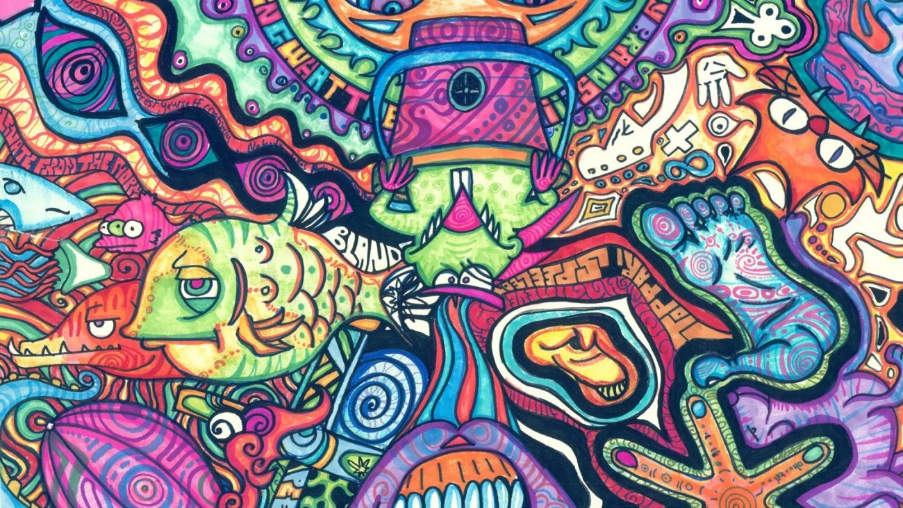 fish psychedelic trippy art wallpaper Of Use Trippy HD Wallpapers For 1300x731
