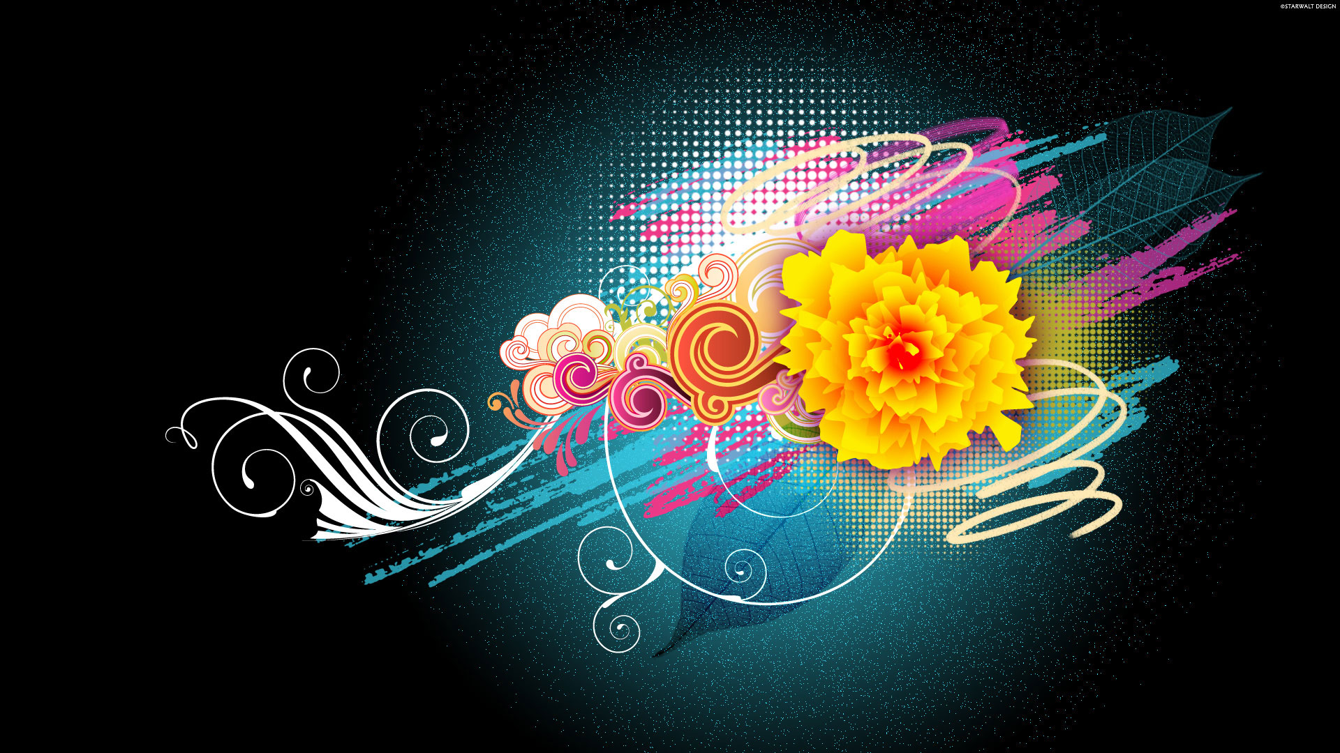 Free Download Flower Vector Designs 1080p Wallpapers Hd