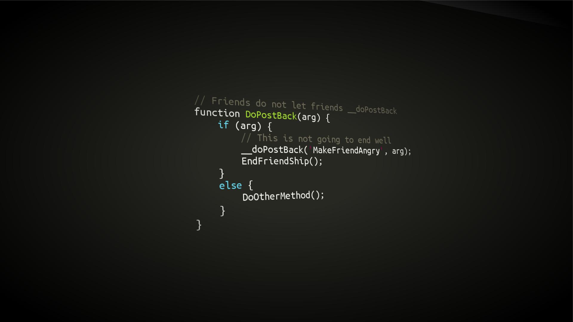 movies syntax highlighting code programming minimalism 1920x1080