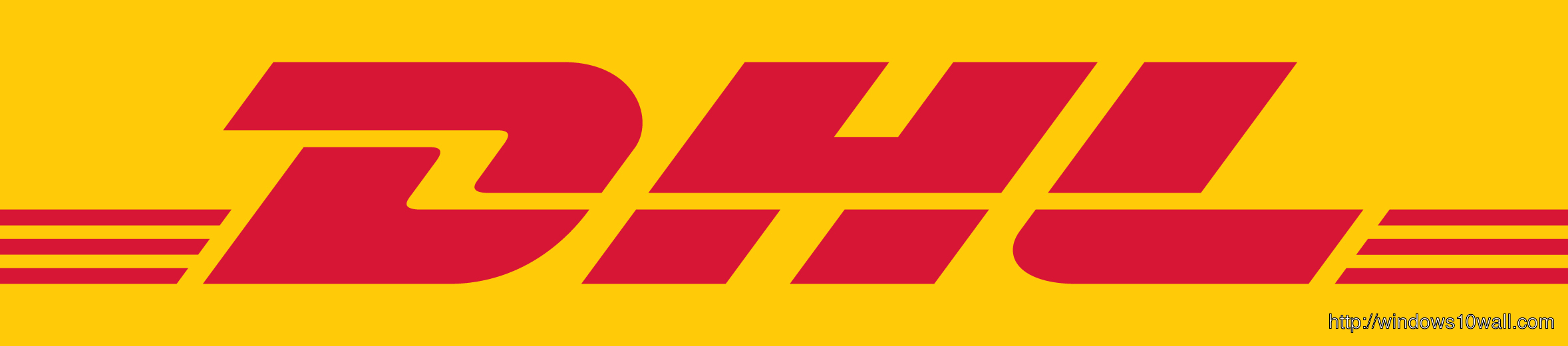 Dhl Logo Background Wallpaper   Dhl Logo 510238   HD Wallpaper 2357x521