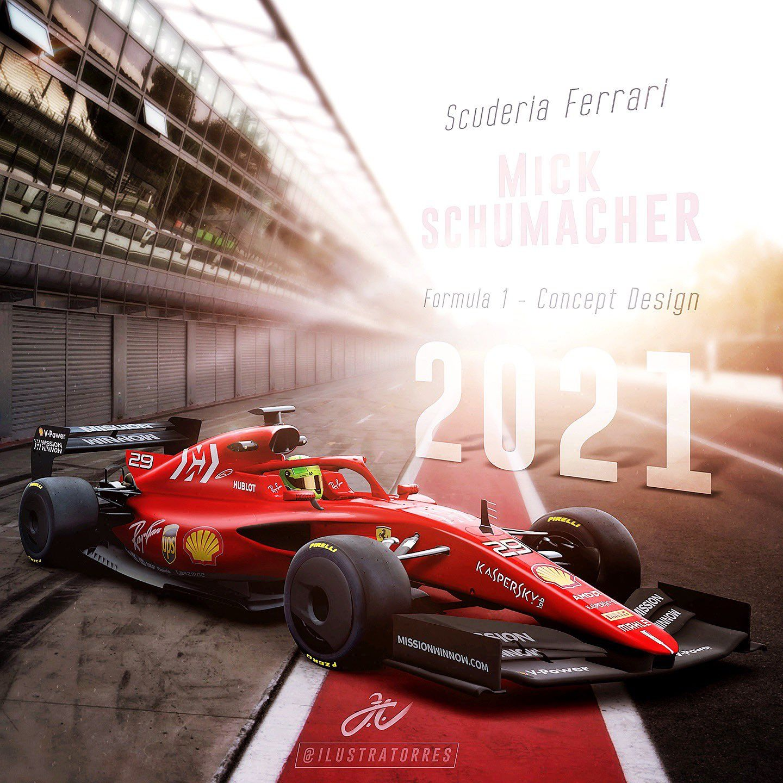 F1 2021 concept Ferrari Ferrari f1 Indy cars 1440x1440