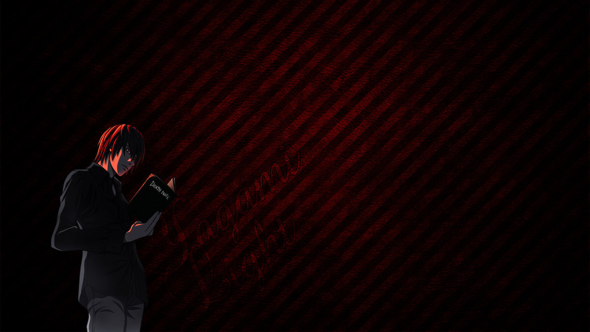 Death Note   Yagami Light Wallpaper by Subkulturee 1191x670