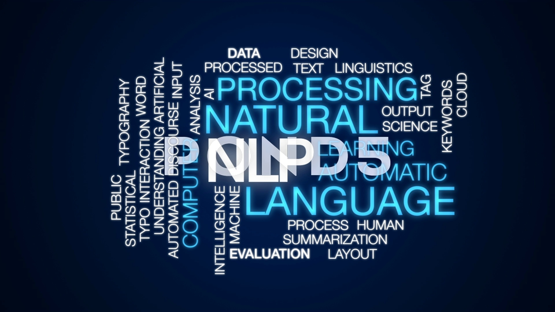 NLP animated word cloud text design animation Footage 79171203 1920x1080