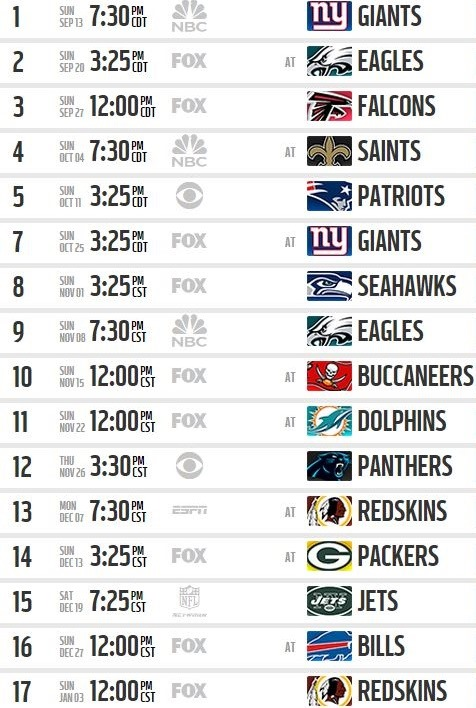 2015 Dallas Cowboys Schedule   Dallas Cowboys Schedule 2015   Dallas 476x708