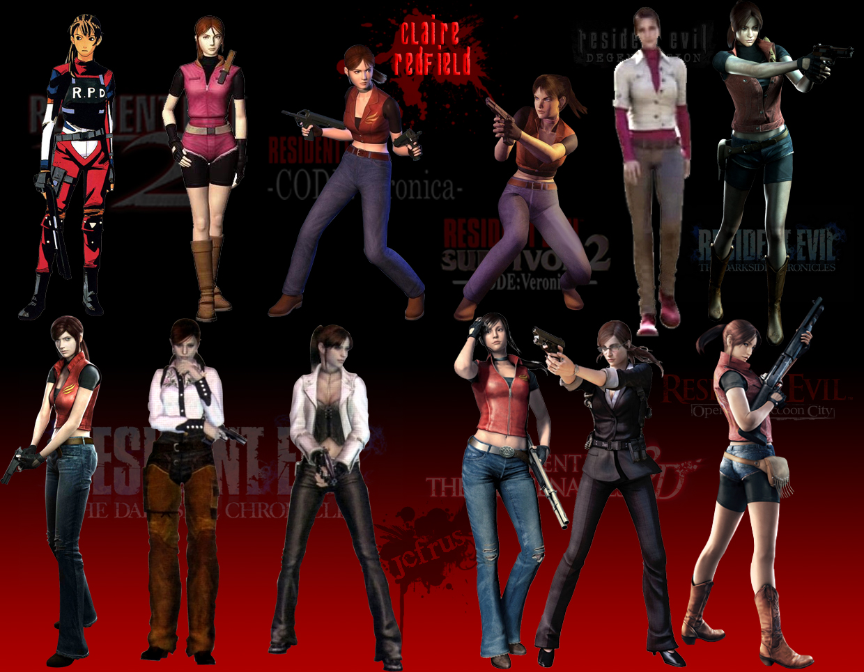 efrajoey1Wallpaper Claire Redfield 1240x965