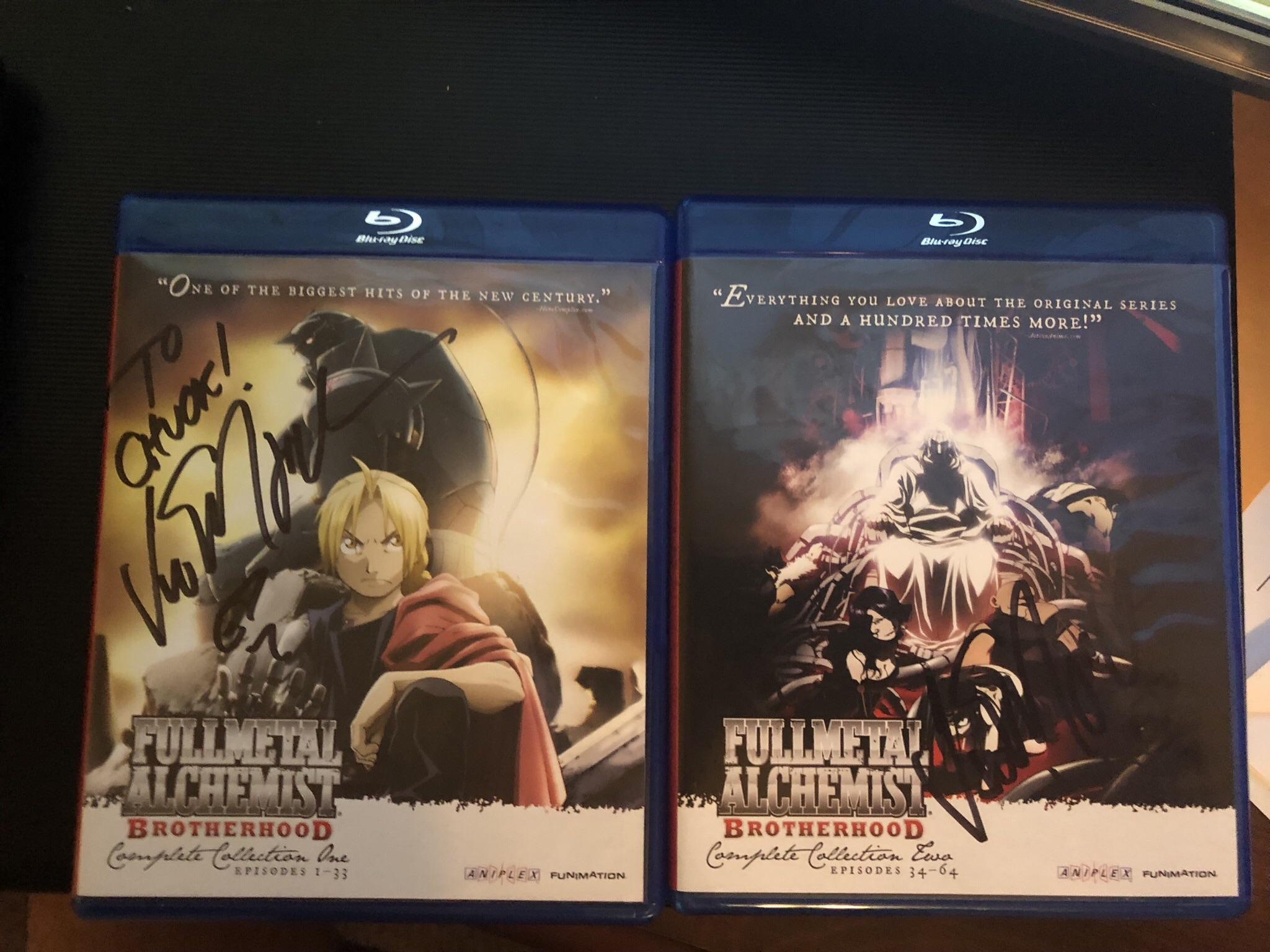 I got Vic Mignogna Eds dub voice actor to sign both my sets of 2048x1536