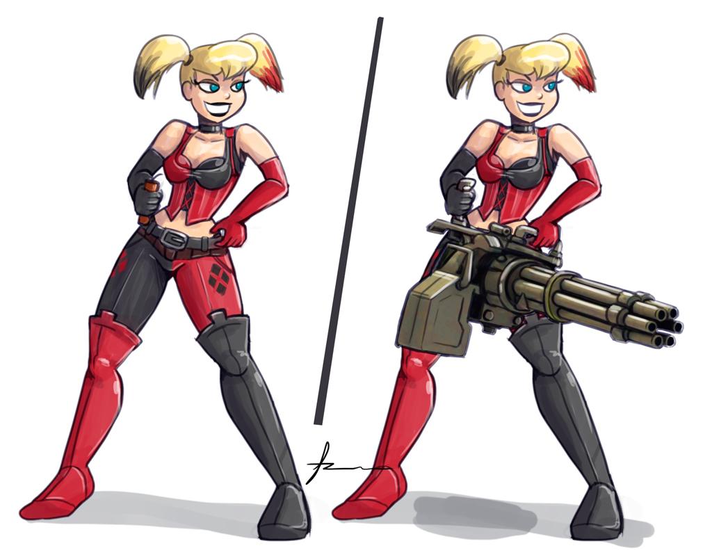 Harley Quinn Arkham City by Furboz 1024x791