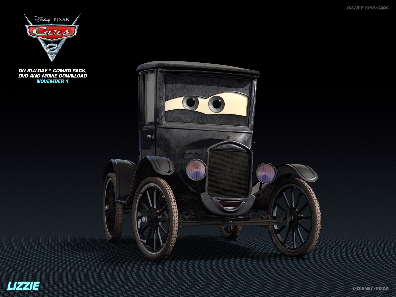 Lizzie   Disney Pixar Cars 2 Wallpaper 28261241 1600x1200
