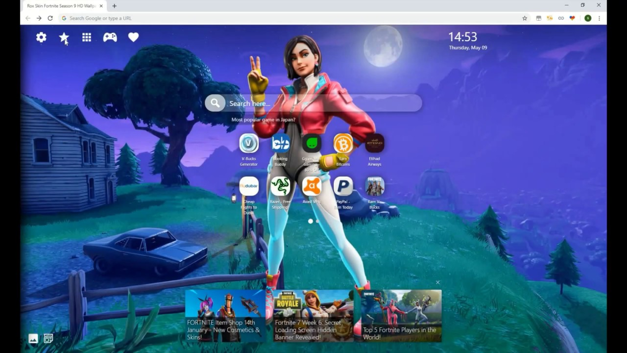 Amazing New Skin In Fortnite Rox HD Wallpaper For Chrome 1280x720