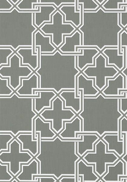 Pierson is a large scale 2 color interlocking trellis pattern 420x600