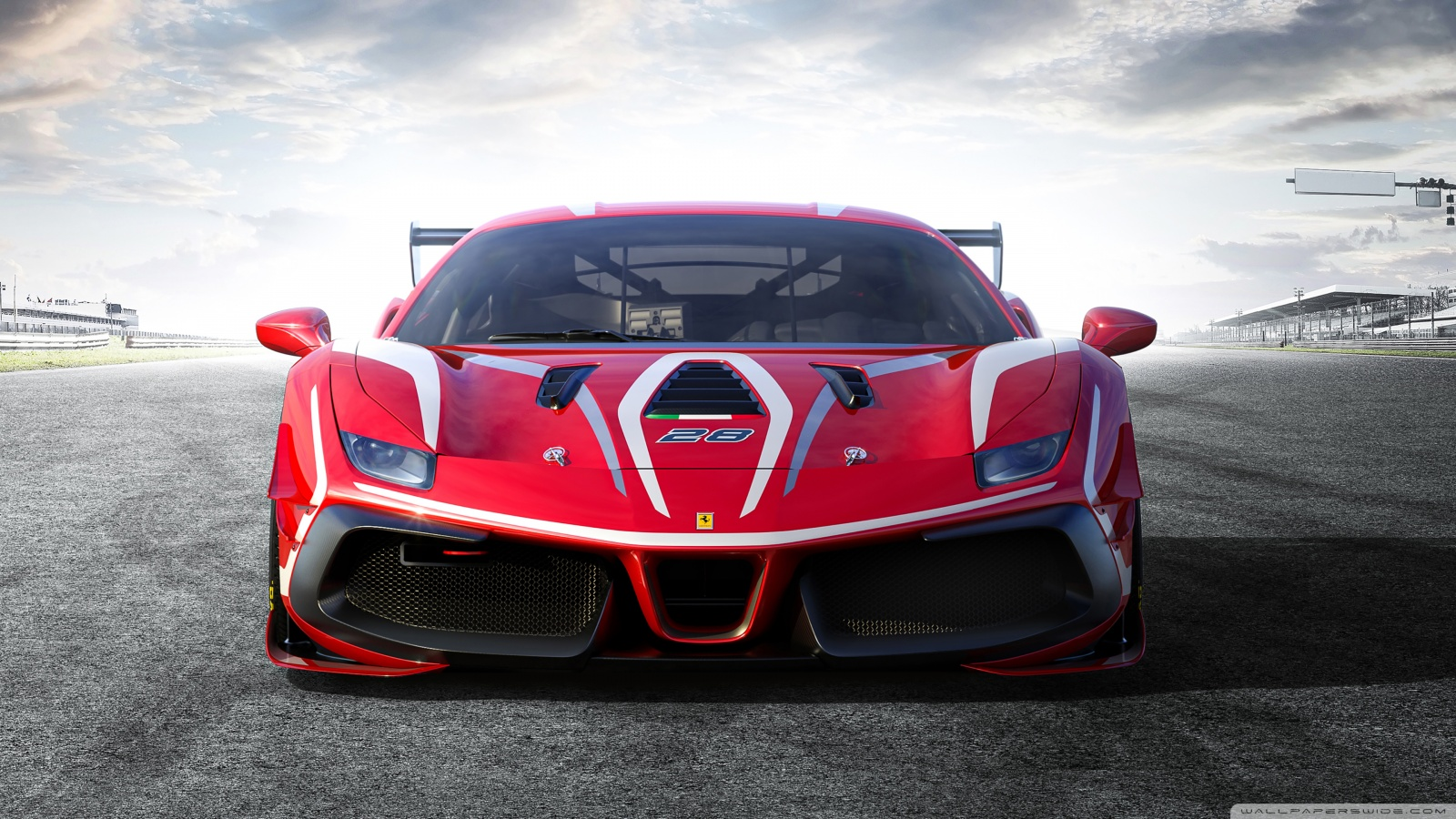 Ferrari 488 Challenge Evo Race Car 2020 Ultra HD Desktop 1600x900