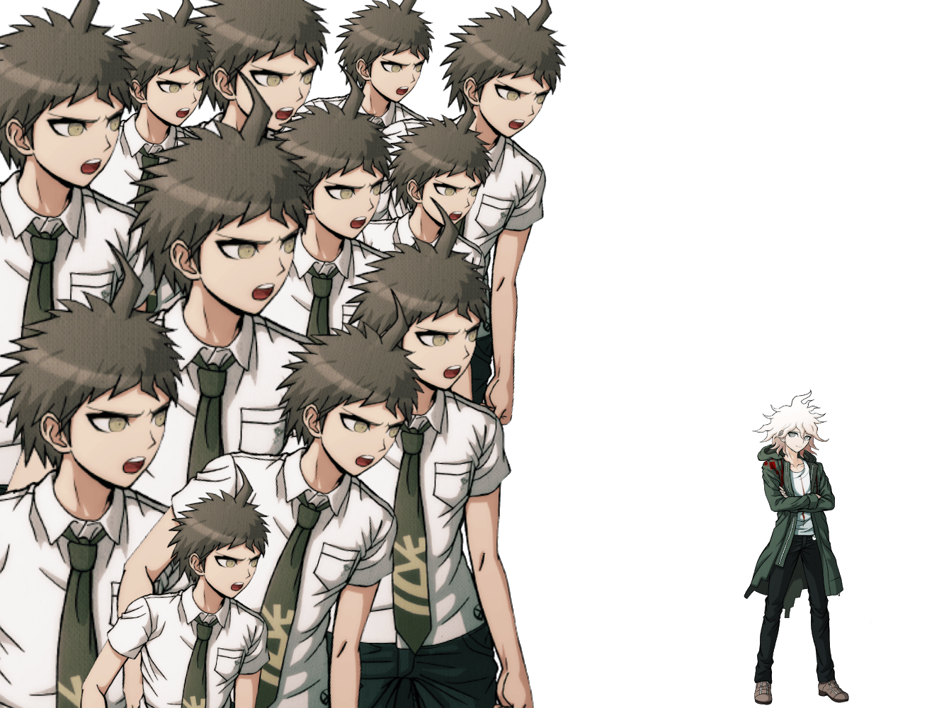 A reaction image for you and an ipad wallpaper danganronpa 1333x1000