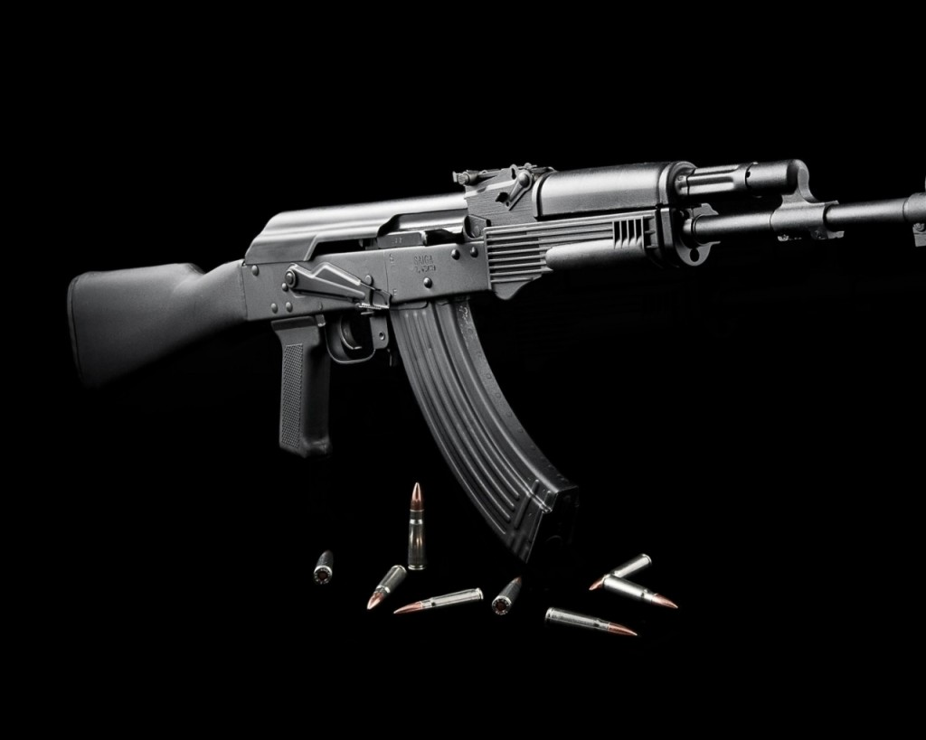 ammunition ak47 saiga black background 1920x1200 wallpaper Wallpaper 1024x819