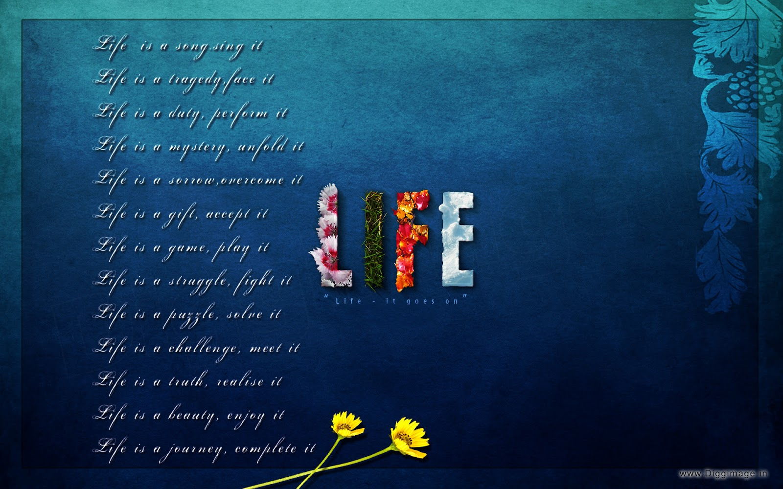 Wallpaper download life - About Life Beautiful Wallpaper Telling What Is Life