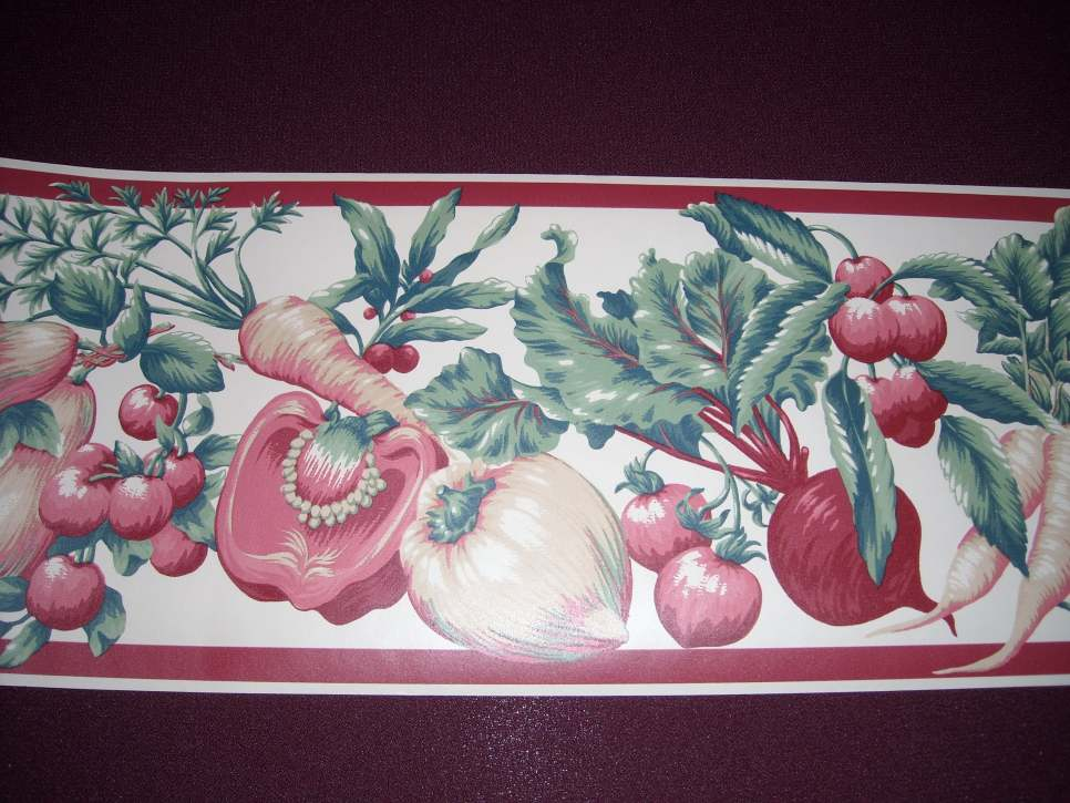 Myrt Primitives Vintage Kitchen Wallpaper Border [gmp 692]   1200 966x725