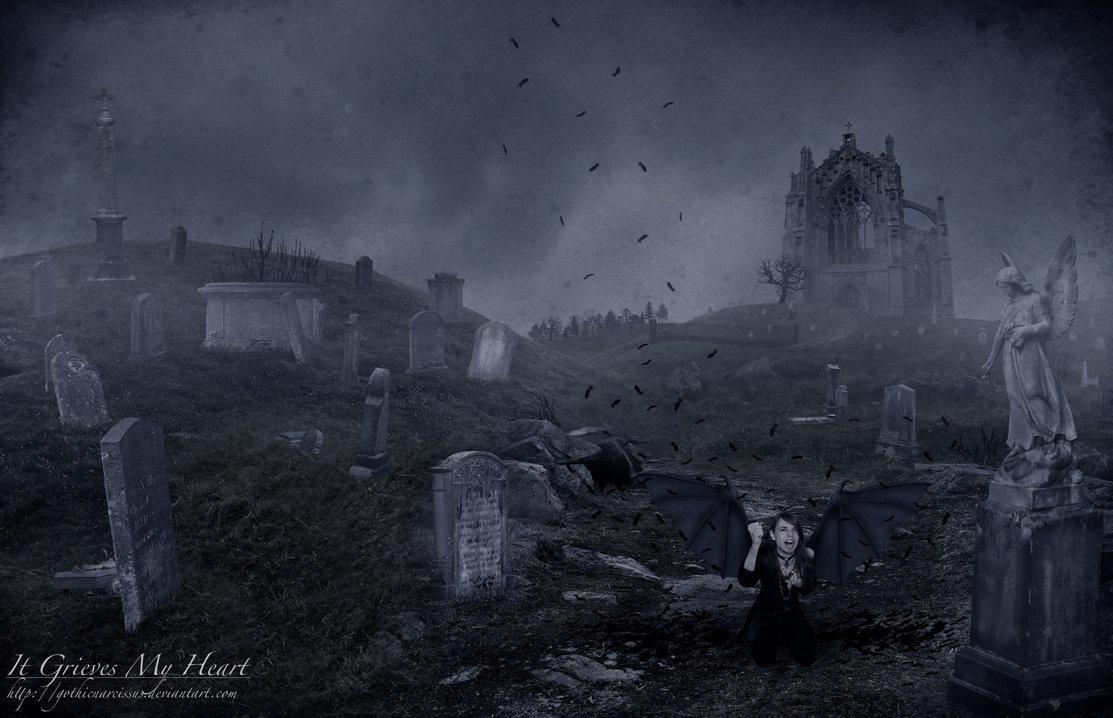 Creepy Graveyard Wallpaper - WallpaperSafari
