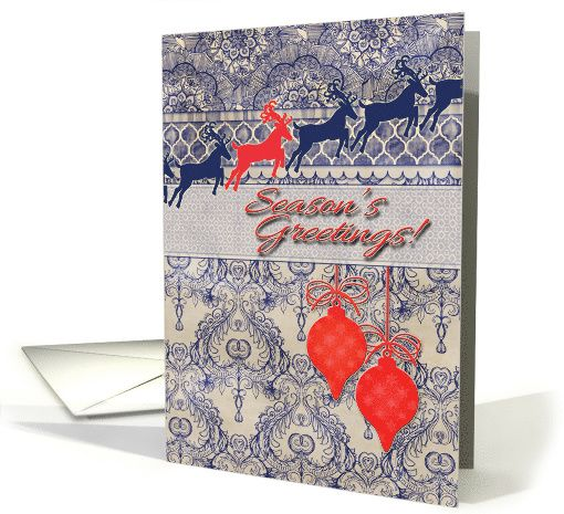 wallpaper navy blue coral card Reindeer silhouettes in navy 510x465