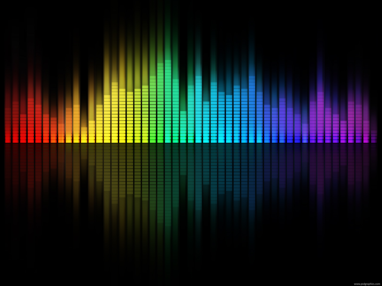 Music equalizer background PSDGraphics 1280x960