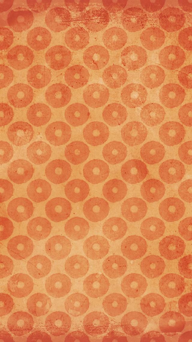 Vintage Orange Pattern Wallpaper   iPhone Wallpapers 640x1136