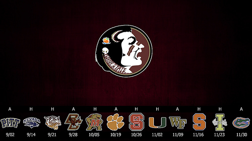 Florida State Seminoles 2013 Schedule Posters College Spun 500x281