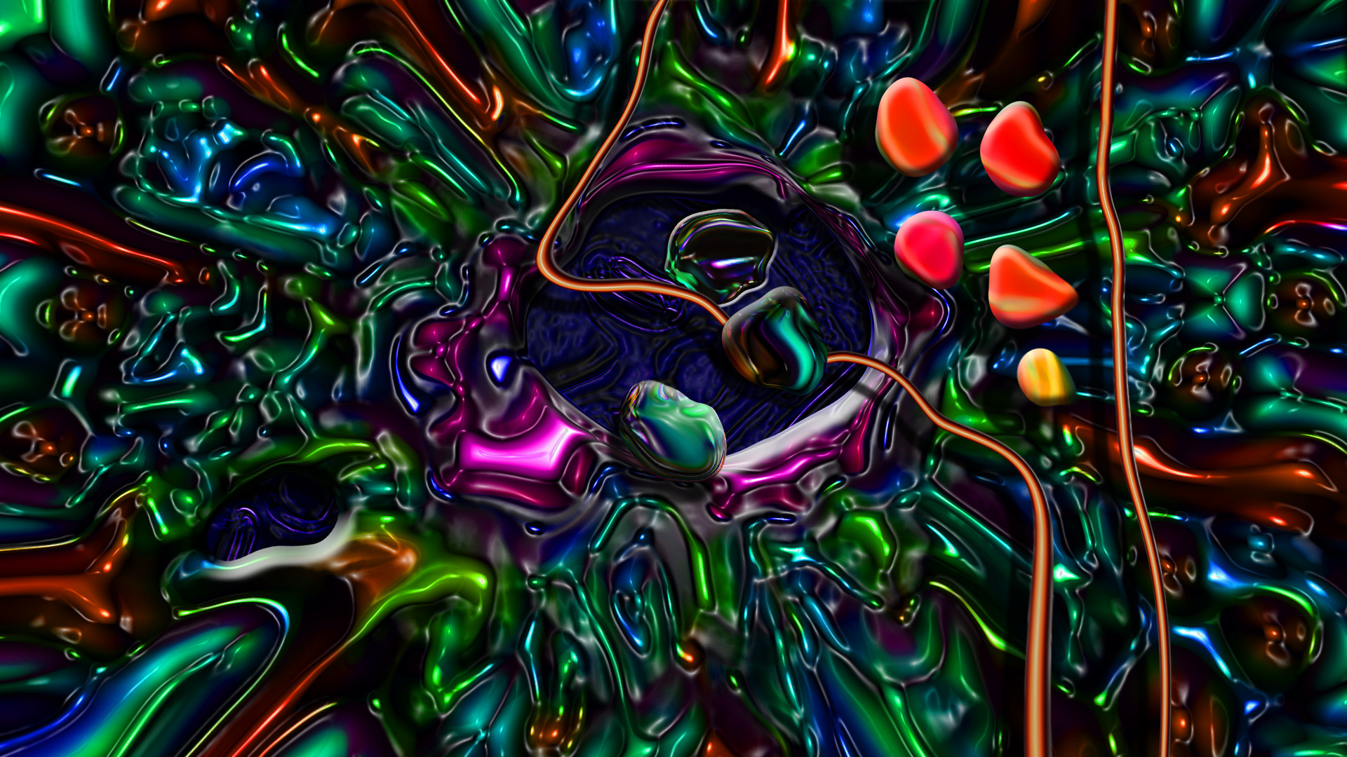 Miscellaneous Digital Art Trippy Colorful Picture 1920x1080