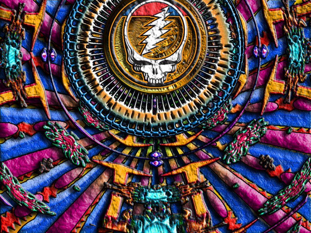 Grateful Dead Wallpapers Skeleton and Roses Wallpaper 1024x768