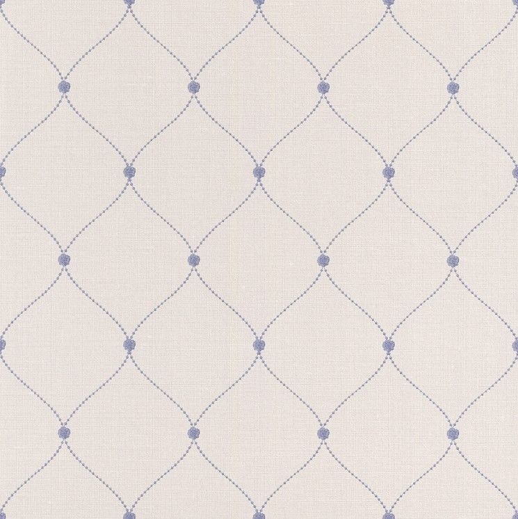 Blue Trellis Wallpaper Rose Bead Paste the Wall Lazy Sunday by Rasch 745x746
