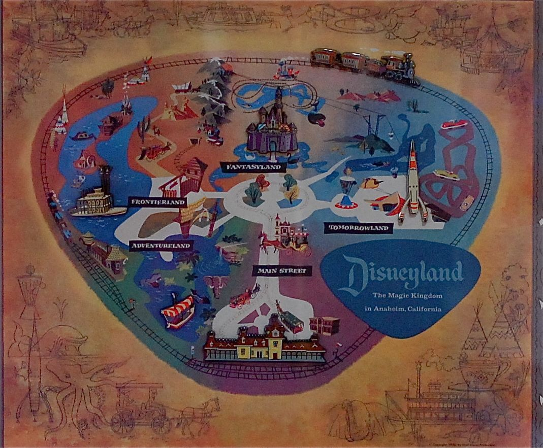 Disney Musings Disneylands 50th Anniversary Pin Map 1069x883