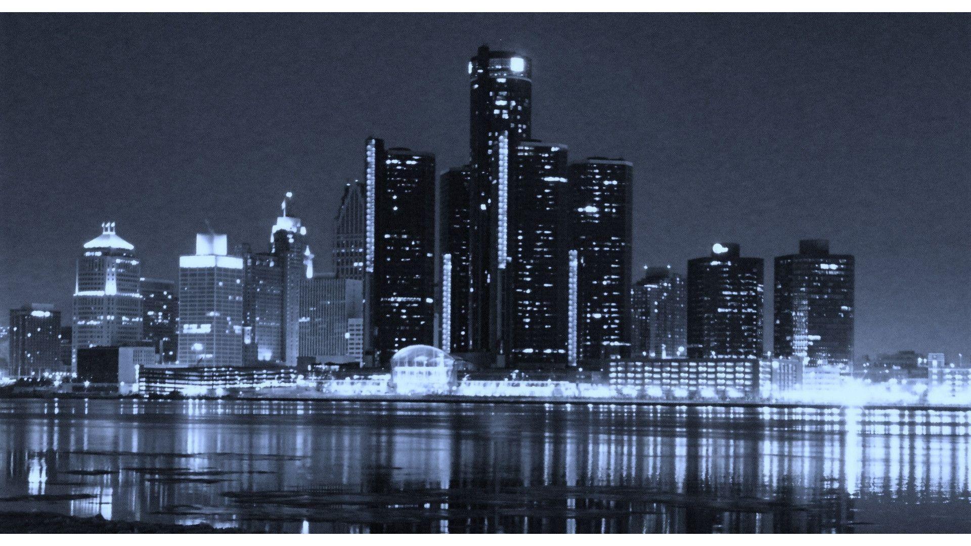 detroit city skyline desktop wallpaper skylines Boston skyline 1920x1080