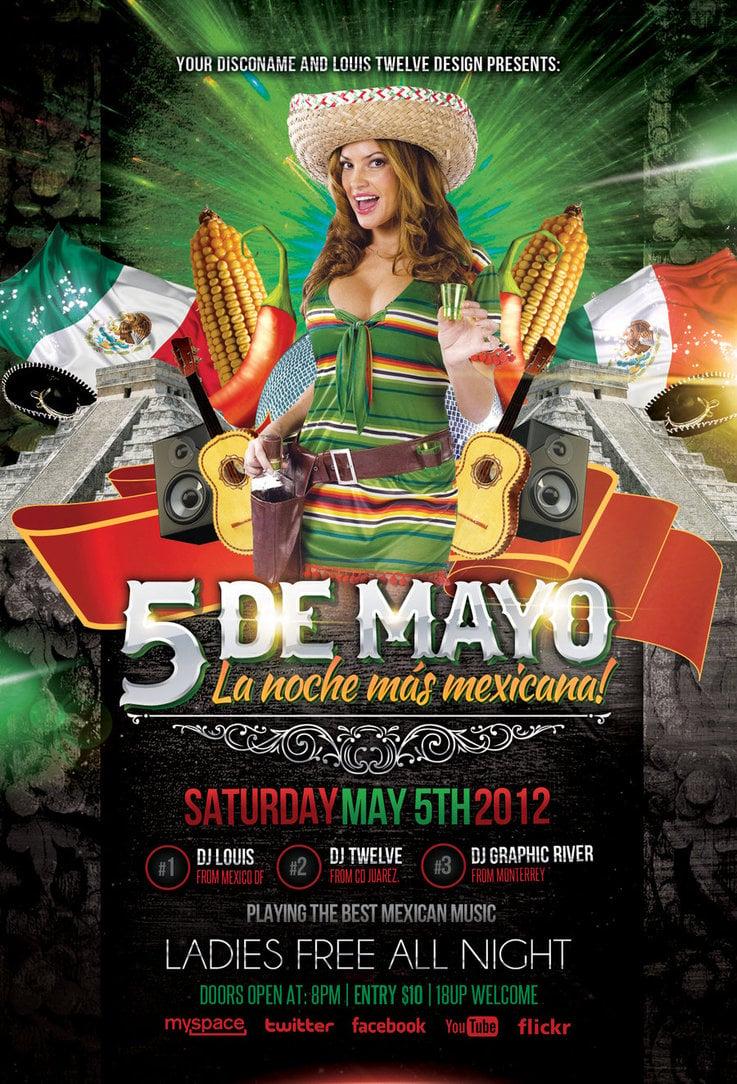 Cinco de Mayo Party 3   Flyer Facebook Timeline by 737x1084