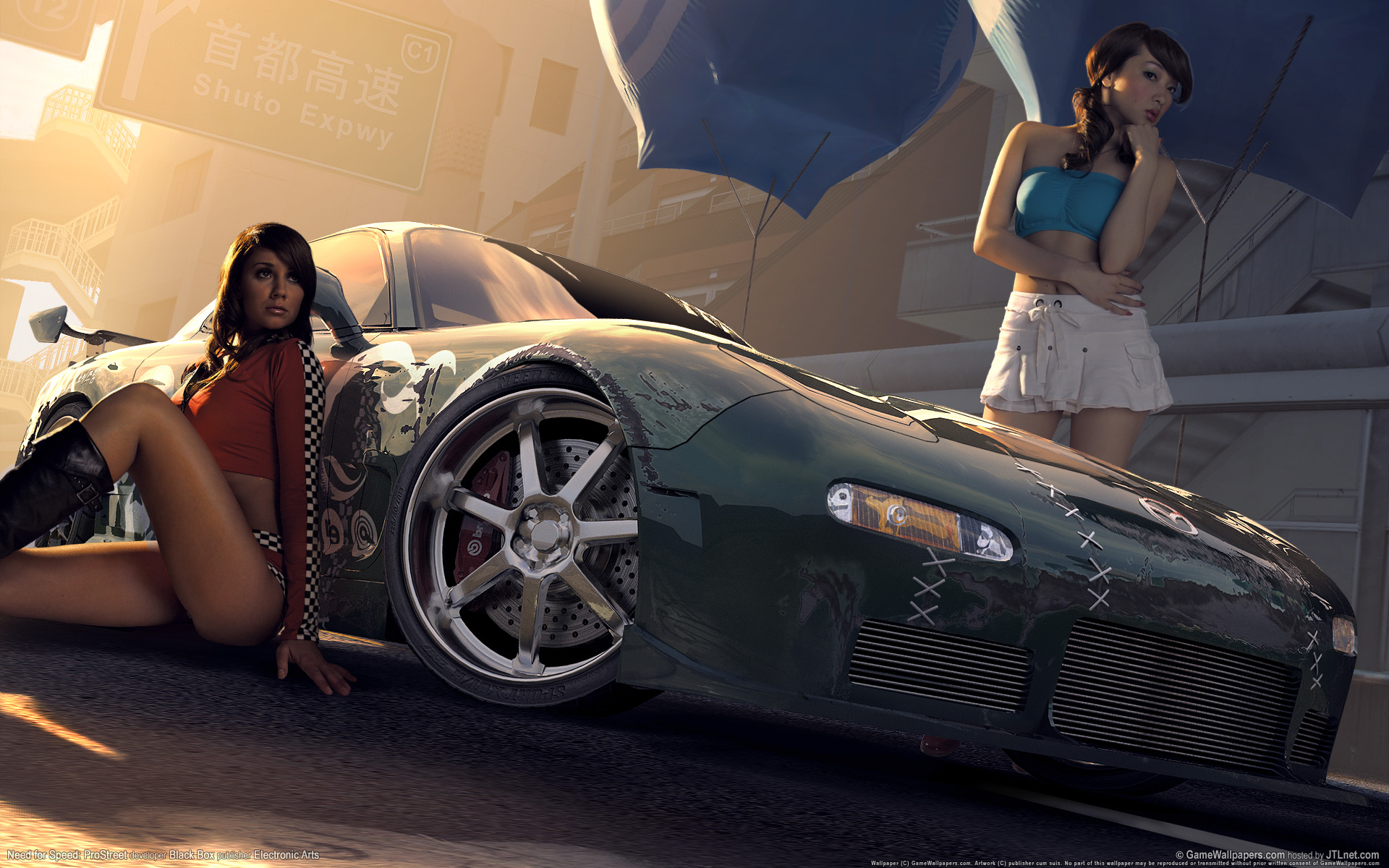Need For Speed Prostreet Babes Wallpaper Cars Hd Desktop Wallpapers 1920x1200