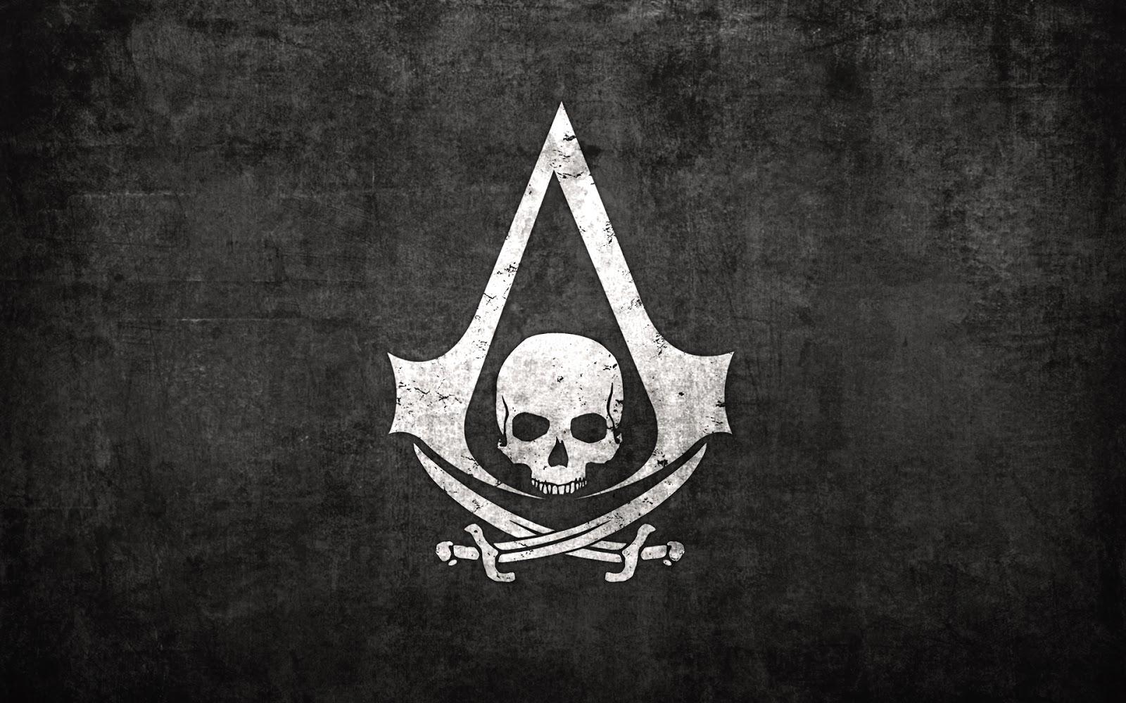 Free Download Assassins Creed Logo Skull Sword Video Game Hd