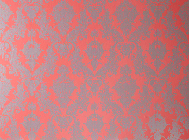 Damsel Removable Wallpaper Coral contemporary wallpaper 640x476