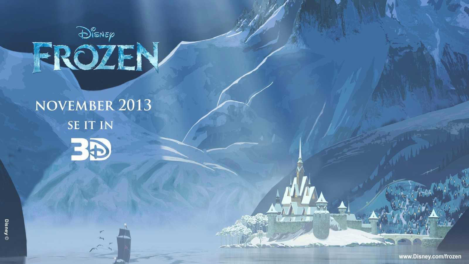 Frozen 3D Disney Cartoons Movies Wallpaper Download 1600x900
