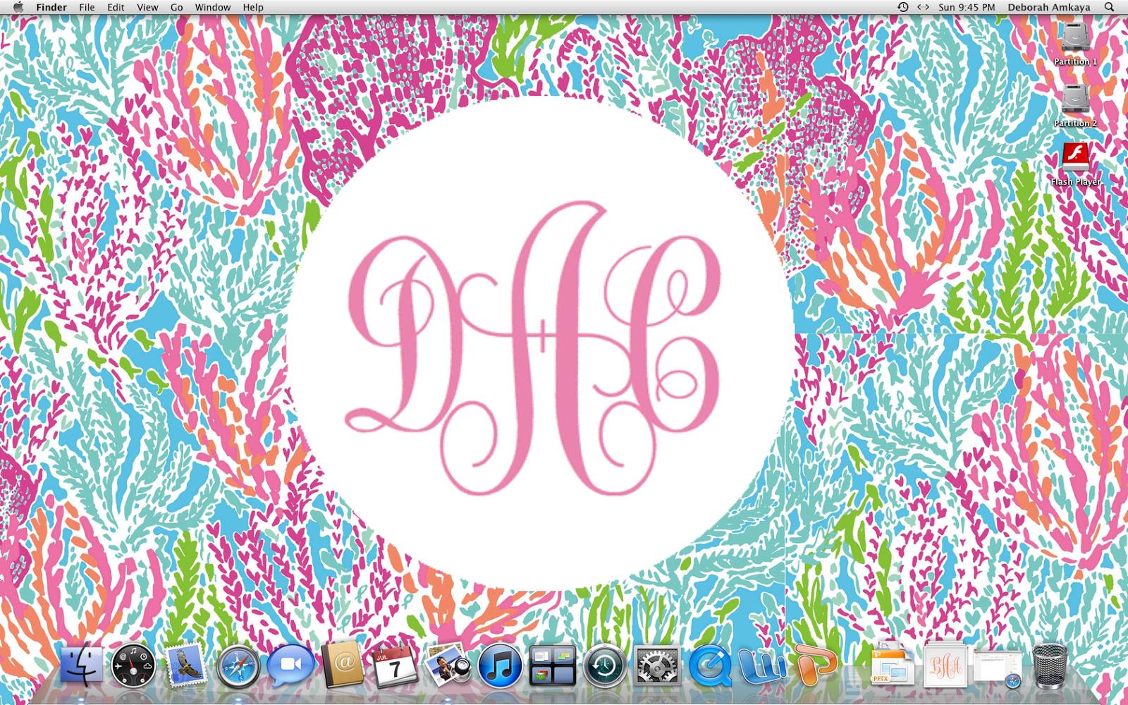 49+] Monogram Lilly Pulitzer Desktop Wallpaper on ...