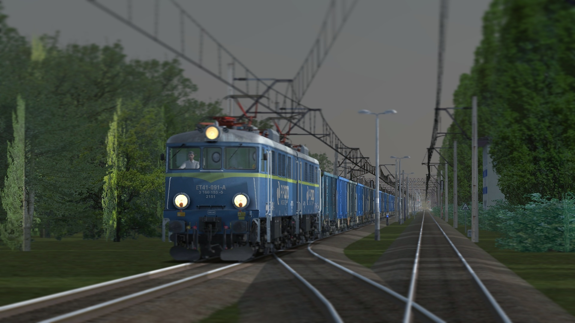 ET 41   091 with coal going to Dbica trainsim 1920x1080