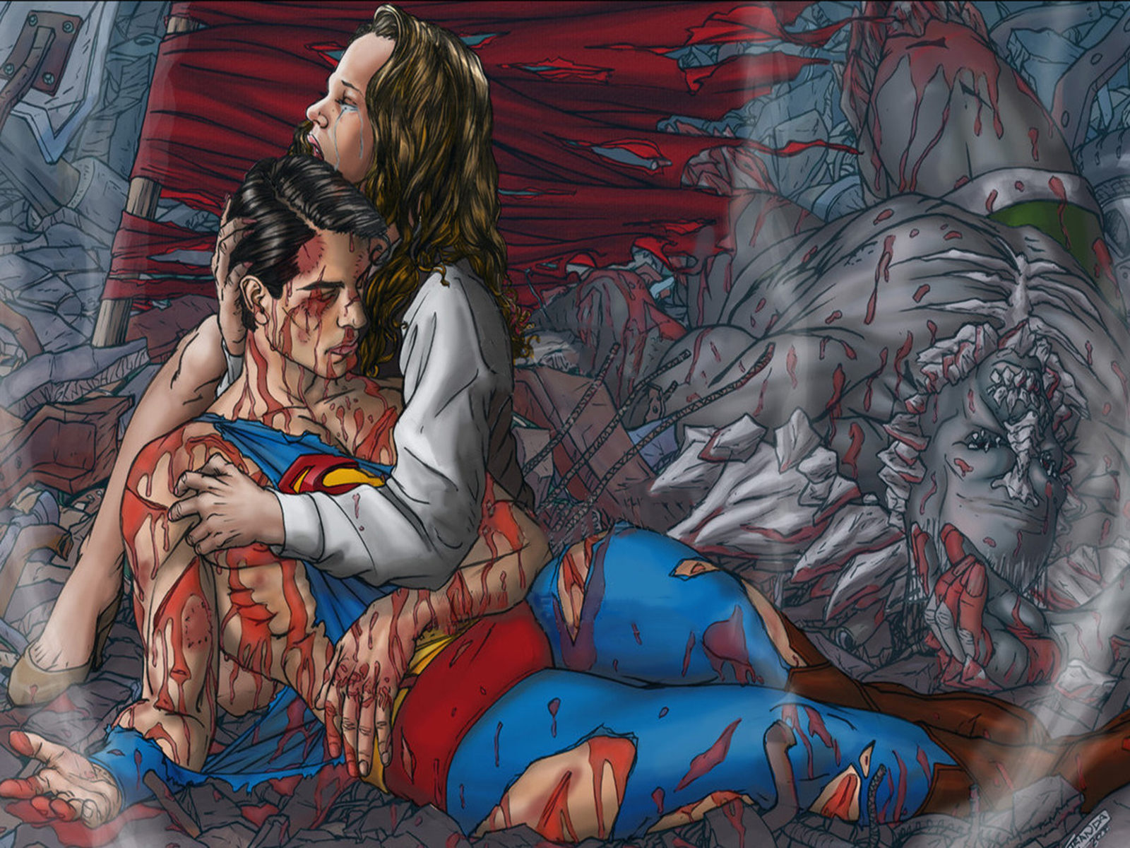 The Death Of Superman HD Wallpapers Backgrounds 1600x1200