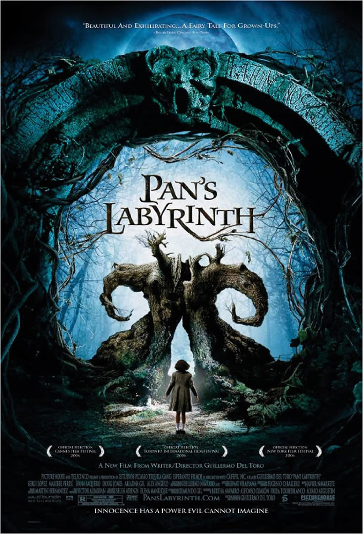 Pans Labyrinth   classic movie posters wallpaper image 734x1080