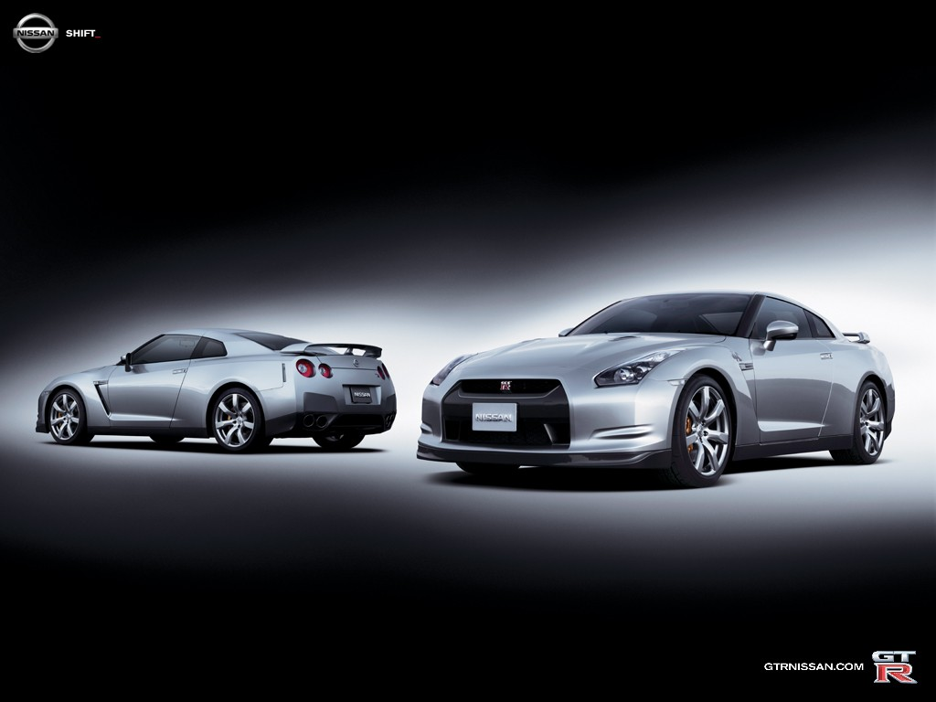 Fondos de Nissan GT R gris Fondos de pantalla de Nissan GT R gris 1024x768