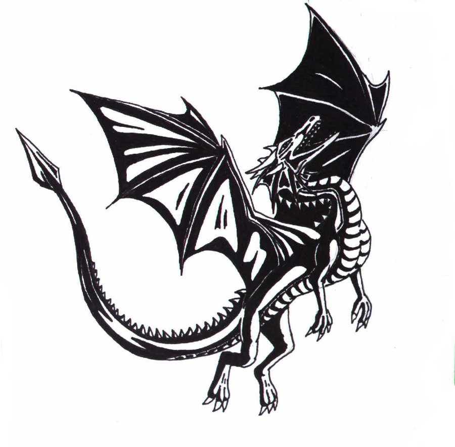 Black And White Dragon Pictures   Wallpaper HD Wide 900x884