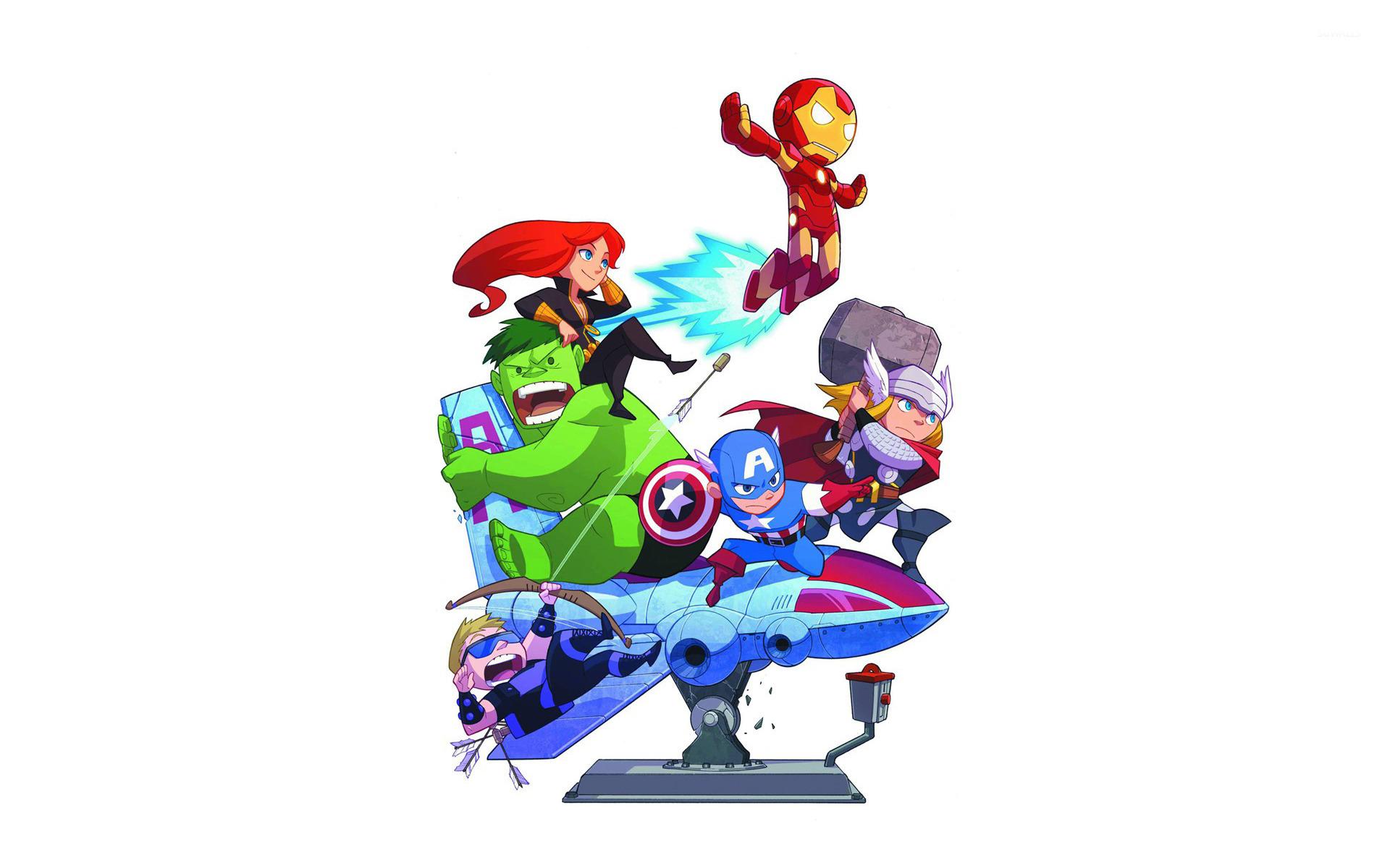 49 Avengers Cartoon Wallpaper On Wallpapersafari