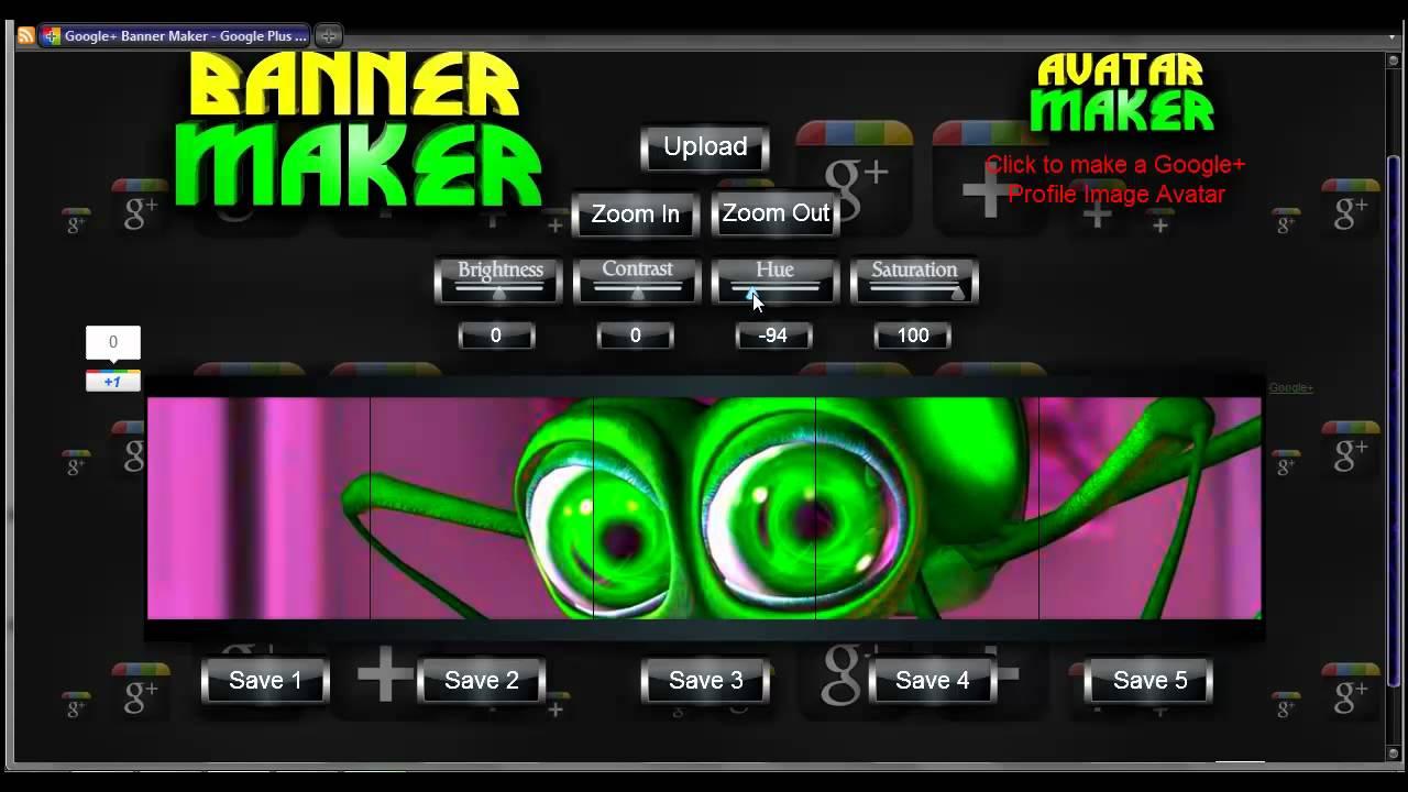 Google Banner Maker   Google Plus Profile Banner Generator 1280x720