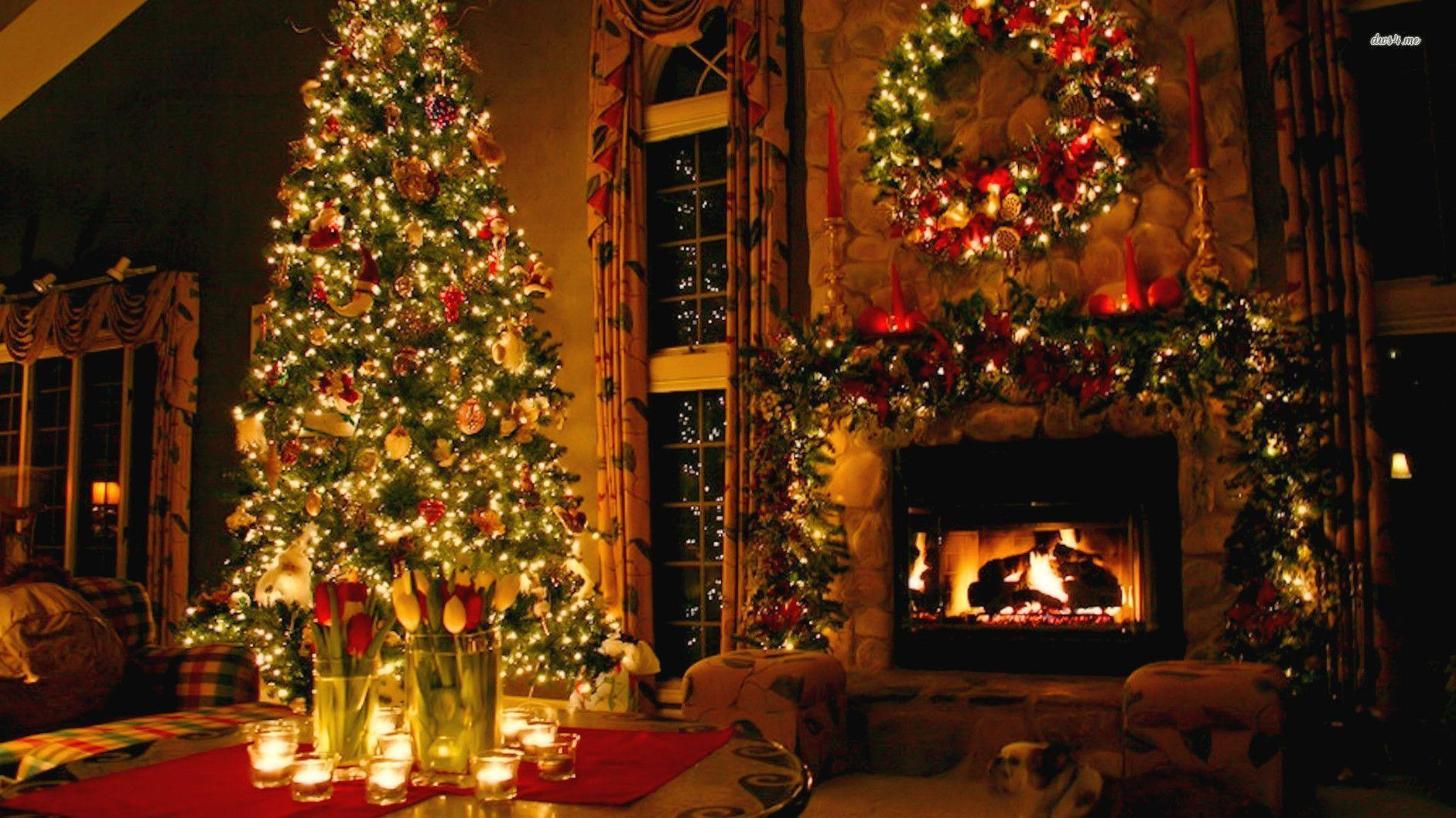 Christmas Fireplace Backgrounds 1882x1058